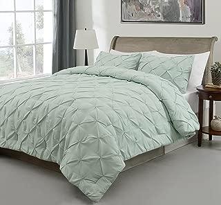 SupraSoft Estellar 3pc Comforter Set Pinch Pleat |Green | Full