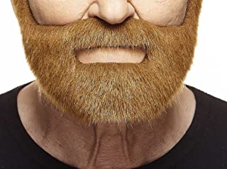 Mustaches Self Adhesive, Novelty, Nobleman Fake Beard, False Facial Hair, Costume Accessory for Adults