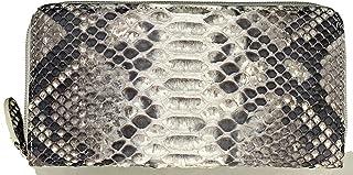 [ロダニア] 財布 メンズ 長財布 ラウンドファスナー ヘビ革 本革 パイソン さいふ OKU6754NAL ブランド 蛇皮 ナチュラル
