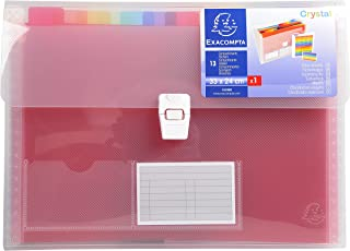 Exacompta - 55298e - Trieur valisette - 13 compartiments - 24 x 32 - Polypro - Crystal - Polypro
