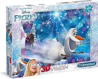 Disney Clementoni - 3D Frozen, 104 Pcs. Multi Color