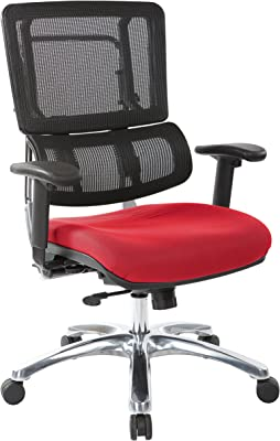 Office Star Amz9625812 Commercial Chair, Rouge