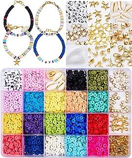 Tacobear Bricolage Perles pour Bijoux Fabrication de Bracelet Loisirs Créatif Kit de Fabrication Bijoux Perles en Argile p...