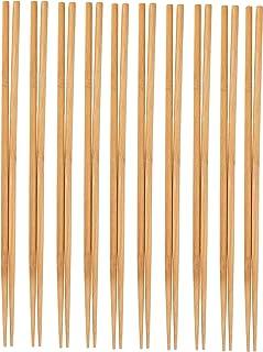 Palillos de cocina – 10 unidades, extra largos, para cocinar, freír, olla caliente, noodles en estilo chino y japonés, bambú natural, 41,9 cm