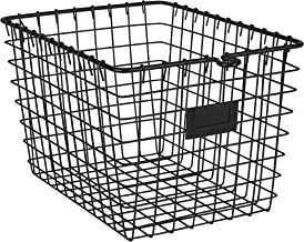 Spectrum Diversified Wire Pet, Toy, Office, Dorm Storage Basket Bin Organizer, Small, Black