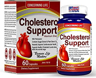 Lower High Cholesterol Naturally - with Cholesterol Support, Helps Lower Bad LDL and Triglyceride - Natural High Cholester...