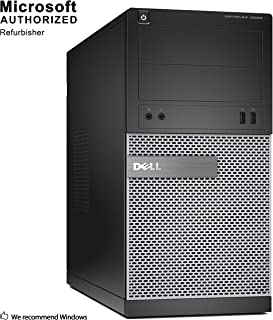 DELL OPTIPLEX 3010 Mini Tower Computer PC Intel Core i5 3470 up to 3.6G, 8G, 240G SSD, DVD, VGA,HDMI, Win 10 64 bit-Multi-Language Support English/Spanish/French(CI5)(Renewed)