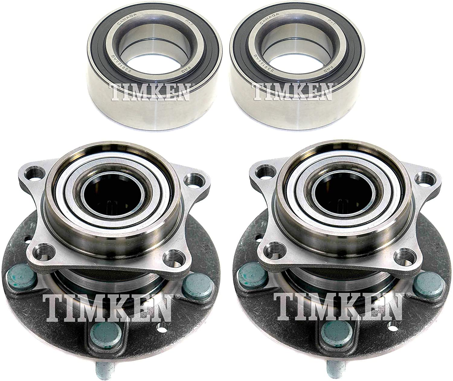 Front and sold out Rear Wheel Bearing Hub Assembly Timken For Award Kit Mazda