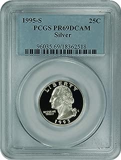 1995 S Washington Washington Silver Quarter DCAM PCGS PR-69