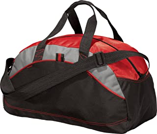 Port & Company luggage-and-bags Improved Medium Contrast Duffel OSFA Red