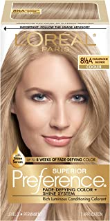 L'OrÃal Paris Superior Preference Fade-Defying + Shine Permanent Hair Color, 8.5A Champagne Blonde, Hair Dye Kit (Pack of 1)