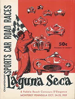 1959 Sports Car Road Race Program - Laguna Seca and Pebble Beach Concours D'Elegance Monterey Peninsula - Oct. 24-25, 1959