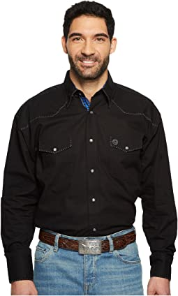 Wrangler - George Strait Long Sleeve Snap Troubadour Dobby