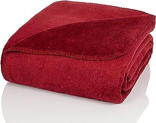 Glart - Couverture douillette, douce et chaude, ultra moelleuse, idéale comme jeté de canapé, plaid, couvre-lit, 130x170...