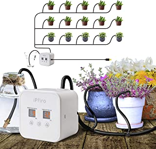 Automatic Drip Irrigation Kit with USB, Houseplants Self Watering System with 30-Day Programmable Timer and 5V USB Charging Cable, for 15 Potted Plants