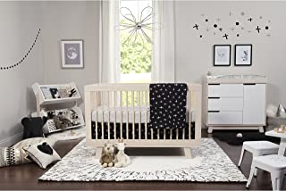 Babyletto 5-Piece Nursery Crib Bedding Set, Fitted Crib Sheet, Crib Skirt, Play Blanket, Contour Changing Pad Cover & Wall Decals, Tuxedo