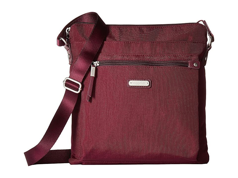 Baggallini New Classic Go Bagg with RFID Phone Wristlet (Eggplant) Bags