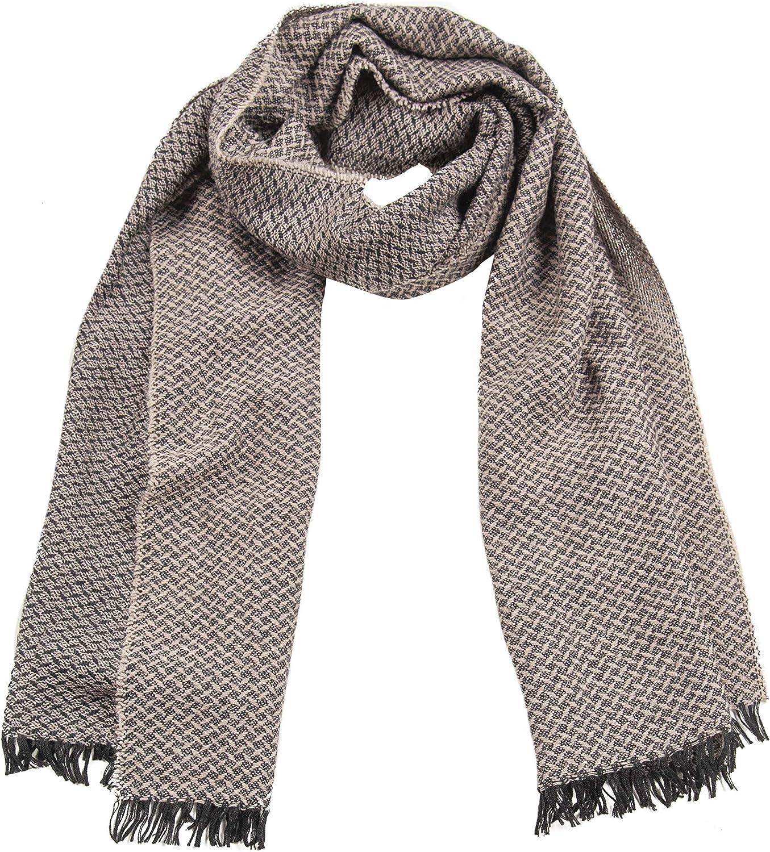 GIULIA BIONDI 100% Made in Italy 100% Wool Scarf Shawl Wrap Blanket Square Pattern Fall Winter Oversized Large Women Men