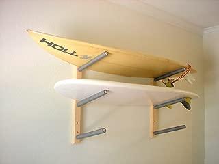 Surfboard, Wakeboard, Kiteboard Wall Rack Mount - Holds 3 Boards