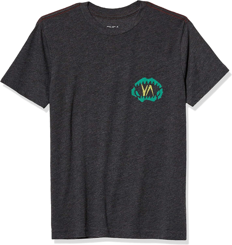 RVCA Boys Mako Short Sleeve Crew Neck T-Shirt