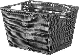 Whitmor Rattique Small Storage Tote, Grey