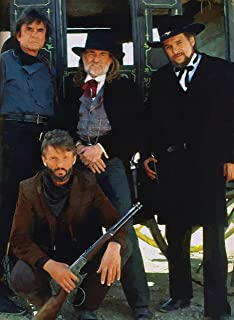 Artist Peter Nowell 16x20 Oil Painting Poster The Highway men Images Johnny Cash Willy Nelson Waylon Jennings From Movie Stagecoach S/N Limited Edition