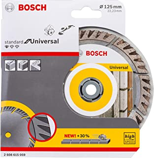 Bosch Professional diamantkapskiva Standard for Universal (betong och murverk, 125 x 22,23 mm, tillbehör vinkelslip)