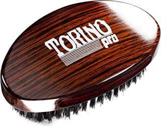 Torino Pro Wave Brush #730 By Brush King - Medium Curve 360 Waves Palm Brush - ALL Purpose 360 Waves Brush