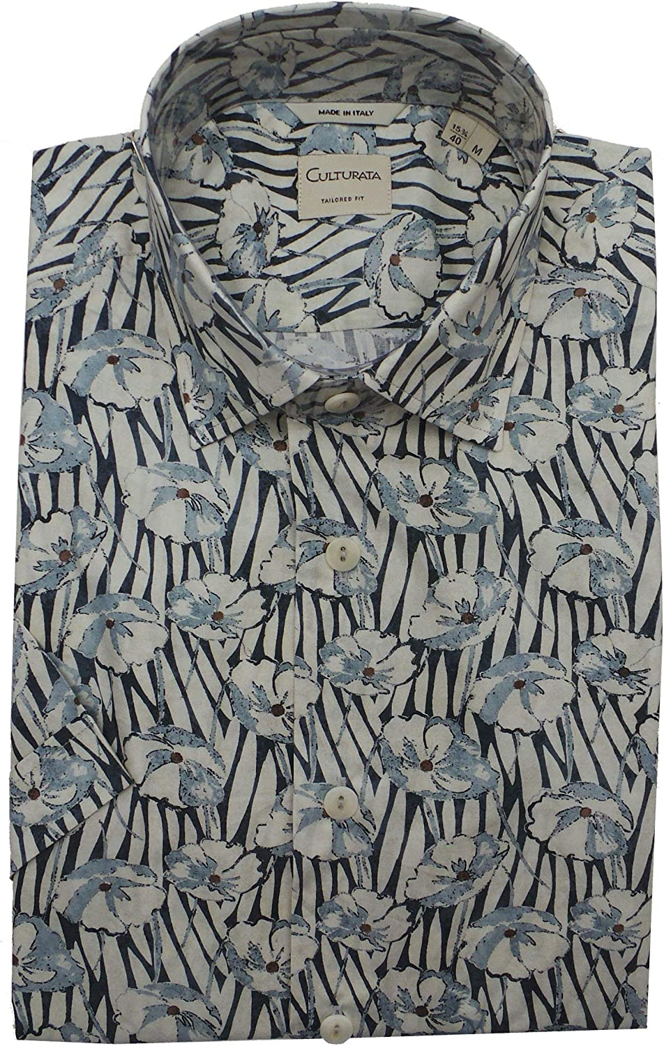 Culturata Abstract Print Lightweight Animer and price revision Shirt Sleeve Short Industry No. 1