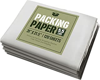 Newsprint Packing Paper: 5.5 lbs (~125 Sheets) of Unprinted, Clean Newsprint Paper, 31