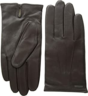 Hugo Boss mens gloves Hainz2 Lambskin Dark Brown