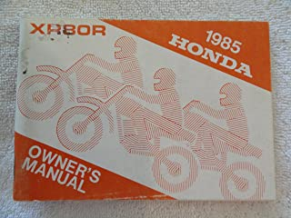 Honda 1985 XR80 XR 80 R New Original Owners Manual