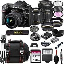 $1299 » Nikon D7500 DSLR Camera with 18-55mm VR + Tamron 70-300mm + 128GB Card, Tripod, Flash, ALS Variety Lens Cloth, and More