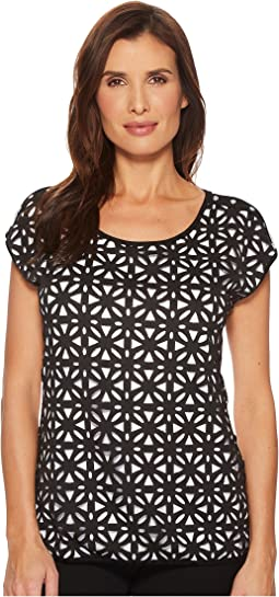 Tribal Laser Cut Jersey Top