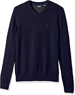 IZOD Men's Long Sleeve Soft Fine Gauge Solid V-Neck Sweater