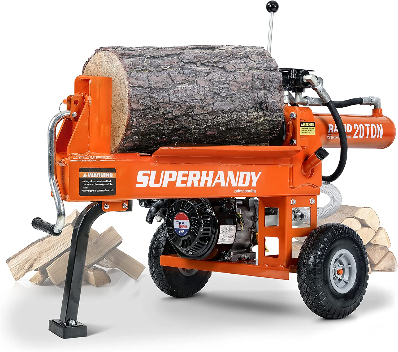 SuperHandy Log Splitter Max 62% OFF Portable 20 Ton Sy Max 90% OFF Rapid Return Auto Ram