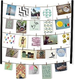 مجموعة إطارات Umbra Hangit Showy-DIY تتضمن أسلاك خيط صور ، حوامل جدار ومشابك ملابس لتعليق الصور والمطبوعات والأعمال الفنية...