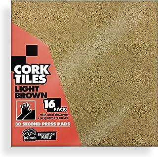 "12 x 12"" Light Brown Cork Tiles (16 Pack)"