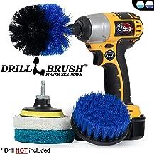 Drillbrush Rigidez Taladro Adjunto fregado con cerdas de cepillo para servicio pesado de limpieza al aire libre rojo