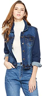 Women's Denim Stretch Classic Long Sleeves Jacket