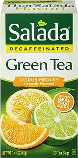 Salada Teas Decaffeinated Green Tea, 6 Boxes of 20 (120 Tea Bags), Citrus Medley