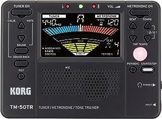 KORG KO-TM50TRBK TM-50TR Tone Trainer Tuner Metronome for Pitch, Rhythm, Volume and Tone, Black