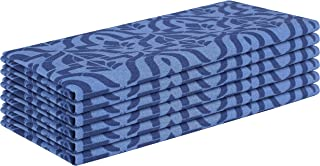 Cote De Amor 6 Pack Cloth Dinner Napkins 100% Cotton 18x18 Absorbent Soft Machine Washable, Cocktail Napkins, Wedding Dinner Napkins, Casual Everyday Dinner Napkins Navy Blue