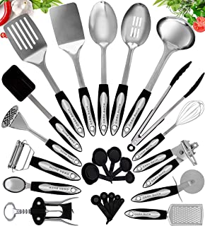 Home Hero Stainless Steel Kitchen Cooking Utensils - 25...