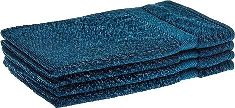 Panache Exports Utopia Soft Hand Towel Set, Teal Blue, 40 cm x 70 cm, PESOFHAN01, 4 Pieces