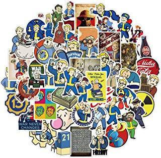 Fallout Stickers for Laptop and Water Bottle, Cool Game Vinyl Decal for Teens,Girl Phone,Bike,Skateboard,Travel Case,Compu...