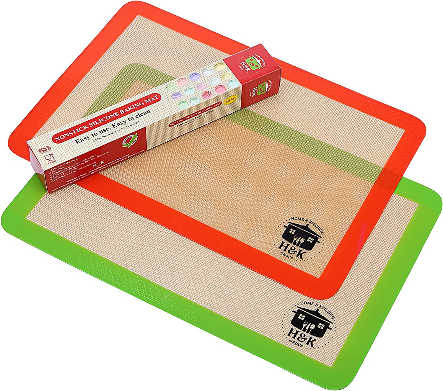 Extra Free Shipping Cheap Bargain Gift Thick Silicone Great interest Non stick Baking Mat S 2 – Set of Half
