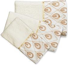 Popular Bath Bath Towels, Seraphina Collection, 3-Piece Set, Ivory