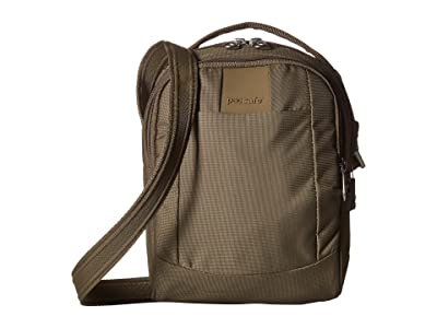 Pacsafe Metrosafe LS100 Anti-Theft Crossbody Bag (Earth Khaki) Cross Body Handbags