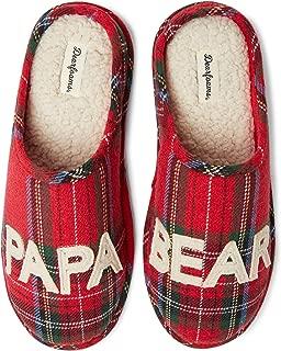 Dearfoams Men's Family Collection Papa Bear Plaid Clog Slipper